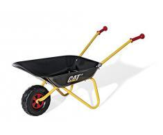 Rolly Toys 271818 - rollyMetallschubkarre CAT Schubkarre (für Kinder ab 2,5 Jahre, Metallschüssel, belastbar bis 25 kg, Kunststoffgriffe)