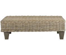 Safavieh Sitzbank, Rattan, weißgewaschen natur, 100 x 68 x 30.48 cm