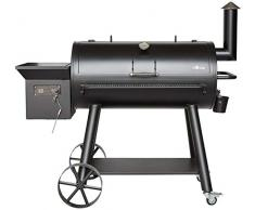 Fuego EL Holzpelletgrill Grand MAGENA Smoker-Grill, LCD-Anzeige, mit Fleischthermometer, Brennerleistung 240 Watt, Räuchergrill, Smoker, Grill, BBQ, Barbecue, AY 569