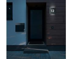 Frabox Edelstahl Design Hausnummernleuchte NAMUR, ohne Dämmerungsschalter