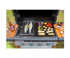 Campingaz 2000014579 Grillkorb Premium für Fisch und Gemüse aus Edelstahl, silber (44 x 31,5 x 6 cm)