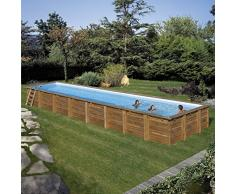 Unbekannt Pool Rechteckig Holz Cardamon 1200x400x146 cm. Gre 788033