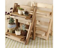 Pflanzentreppe Holz, Teckpeak Tischplatte Blumenregal Blumenständer Pflanztisch für Garten Terrasse Balkon