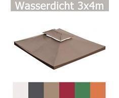habeig WASSERDICHT Ersatzdach 3x4m Dach 340g für Pavillon Kaminabzug Pavillondach PVC (Anthrazit #42)