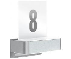 Steinel LED Außenwandleuchte L 820 LED silber, inkl. Hausnummer, 12,5 W, 612 lm, 160° Bewegungsmelder, 5 m Reichweite