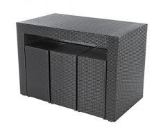 Ultranatura Poly-Rattan 2in1 Bar & Lounge Set Palma-Serie inkl. Auflagen