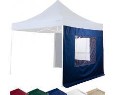 Maxstore Set aus 2x Seitenwand/Seitenteil für 3x3m Pavillon mit großem durchsichtigen Fenster, Farbwahl Weiß Champagner Blau Grün Rot Schwarz, Wasserabweisend, Seitenteil für Gartenzelt, Festzelt