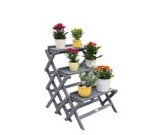 Habau Blumentreppe, klein, Grau, 60 x 70 x 71 cm