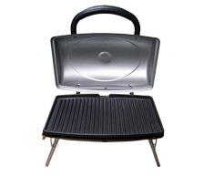 SLP tskbuc Notebook-Grill Gasgrill, 48 x 30 x 35 cm, silber