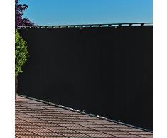 Balkonblende mit Ösen PE Balkon-Bespannung 0,9x3m Farbe: anthrazit Sichtschutz UV-Schutz Balkon