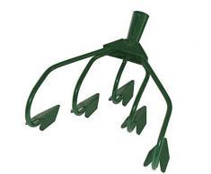 Gartenhacke 5 Zinken grün Kultivator Grubber Blumenharke Kralle
