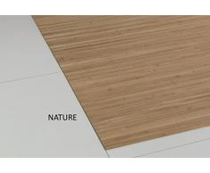 Bambusteppich MASSIVE nature, 100x160 cm, 17mm gehärtete Stege  die neue Generation Bambusteppich  kein Bordürenteppich  Teppich   Wohnzimmer   Küche   Markenprodukt von DE-COmmerce   MADE IN GERMANY
