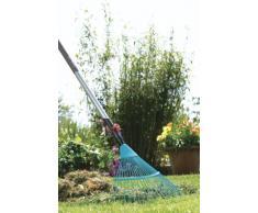 GARDENA combisystem-Drahtbesen: Fächerbesen zum Säubern und Lüften von vermoosten Rasenflächen, mit robusten Drahtzinken, Duroplast beschichtet, Arbeitsbreite 50 cm (3100-20)
