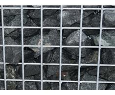 Steinkorb-Gabione eckig, Maschenweite 5 x 5 cm, Tiefe 40 cm, Spiralverschluss, galvanisch verzinkt (80 x 40 x 40 cm)