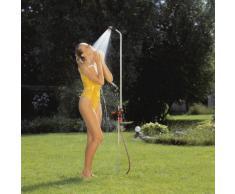 Gardena Gartendusche duo: Dusche mit zwei angenehmen Strahlarten, Brausestrahl oder Sprühnebel, Wassermenge stufenlos regulier- und absperrbar, großer Duschkopf, fester Stand, (959-20)