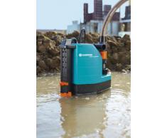 GARDENA Comfort Schmutzwasserpumpe 8500 aquasensor: Tauchpumpe mit 8.300 l/h Fördermenge, 380W Motor mit Thermoschutzschalter, 7 m max. Eintauchtiefe, Schwimmschalter, Universalanschluss (1797-20)