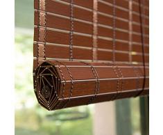Bambusrollo Innen- / Außenrollläden Fenstervorhänge, Patio/Pavillon/Pergola/Carport Roll-Up-Sonnenschutz, 90 cm / 100 cm / 120 cm / 150 cm Breit (Color : Redwood, Size : 47 x59/120cmx150cm)