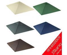 freigarten.de Ersatzdach für Pavillon 3x3 Meter Sand Antik Pavillon Wasserdicht Material: Panama PCV Soft 370g/m² extra stark Modell 3 (Anthrazit)