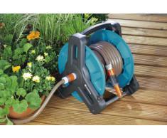 GARDENA Classic Schlauchtrommel 50: Wasserschlauchtrommel für Gartenschlauch max. 50 m (13 mm Schlauch), kompakte Bauweise, mit Nachtropfstopp, Schlauchanschluss abgewinkelt (8007-20)