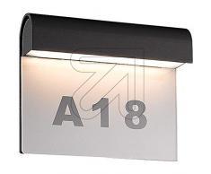 LED-Hausnummernleuchte grau IP54 3000K 1