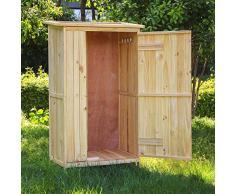 Wiltec Gartenhaus Eintürig Gerätehaus Geräteschuppen Gartenschrank Geräteschrank