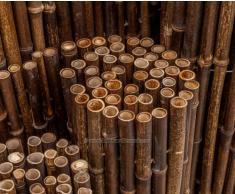 Bambusmatte schwarz, sehr stabile Ausführung, 180x250cm, Bambusrohrdurchmesser ca.24mm - Sichtschutzmatte Bambus Matten