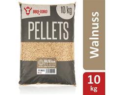 BBQ-Toro Walnut Blend Pellets aus 100% Holz (vorwiegend Walnuss) (10 kg) | Walnusspellets für Grill, Smoker, Pellet-Pizzaofen und Heizungsanlagen | Grillpellets
