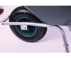 Schubkarre 85 ltr. 250kg, PVC, grün (Gartenkarre Bauschubkarre Baukarre)