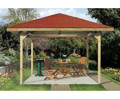 Weka Holzpavillon 19 mm Paradies 3/1 Enjoy Sparset kdi 380x380cm