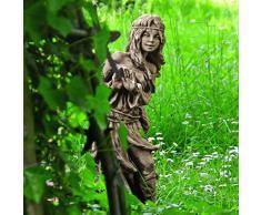 Gartentraum Lustige Steinguss Gartenskulptur - Adele, Antikgrau