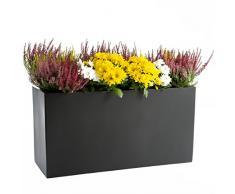 Ultranatura Fiberglas Pflanztopf - Übertopf Blumenkübel, 80 x 30 x 40 cm