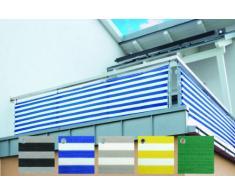 friedola Sichtschutz Windschutz Optima 90cm x 5m Balkonverkleidung (grau-schwarz)
