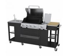 Generic A1. num. 6305. Cry. 1.. Professional Outdoor sional BBQ Küche arbec 4 Brenner Grill 4 Burne Gasgrill Spüle Herd Spüle Rollen S.. wruk23-uk-170805–36