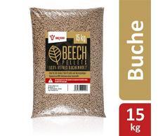 BBQ-Toro Beech Pellets aus 100% Buchenholz (15 kg) | Buchenpellets für Grill, Smoker, Pellet-Pizzaofen und Heizungsanlagen | Grillpellets