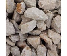 GABIONA Jura Natursteine Bruch I Gabionen Steine zum Befüllen für Gabionenkörbe für die individuelle Gartengestaltung I Sichtschutz aus Stein Zaunelemente Säulen Ø (45-56 mm, 1000 KG)