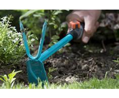 GARDENA combisystem-Kleinhäckchen: Kleine Gartenhacke zum Bodenlockern und Unkraut jäten, rostgeschützt, schmutzunempfindlich, verlängerbar (8913-20)