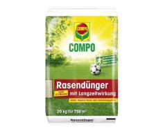 COMPO Rasendünger mit Langzeitwirkung, Rasenpflege mit bis zu 3 Monaten Langzeitwirkung für Spiel-, Sport- und Zierrasenflächen, 20 kg für 750 m²