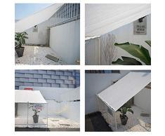 JDlept Sonnensegel,Weißes Rechteck Markisendach 80% Beschattungsrate Sonnencreme Für Den Garten Im Freien Terrassenpflanze Swimmingpool. (Size : 4m*6m)