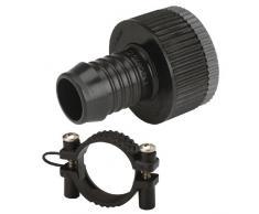 Gardena Sprinklersystem Adapter-Stück: Hahnanschluss-Stück, Zubehör für Gardena Pipeline und Sprinklersysteme, für druckstabile Schlauchverbindung, inkl. Schraubklemme zur Schlauchfixierung (1513-20)