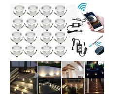 20er WIFI Dimmbar LED Bodeneinbauleuchten Einbaustrahler Arbeitet mit Alexa,IFTTT,WiFi Wireless Smart Phone, Ø30mm 0.6W IP67 Wasserdicht LED Einbaustrahler Außen Full Kit