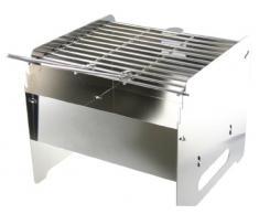 Faltbarer Grill aus Edelstahl 23x25x25cm ARBO-INOX