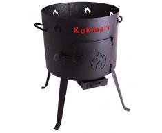 Utschak, H: 55 cm, Durchmesser: 29 cm, für 4,5L Kasan / Feldküche, Gulaschkessel Feuerkessel Kessel Outdoor