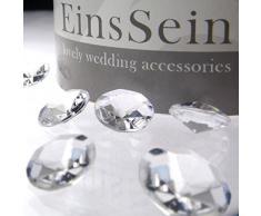 100x Diamantkristalle 12mm klar EinsSein® Dekoration Dekosteine Diamanten Diamantkristalle Streudeko Konfetti Tischdeko Hochzeit