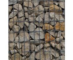 Steinkorb-Gabione eckig, Maschenweite 5 x 10 cm, Tiefe 40 cm, Spiralverschluss, galvanisch verzinkt (100 x 40 x 40 cm)