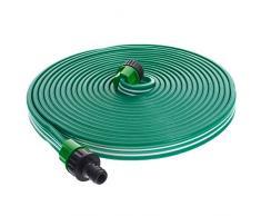 Smartfox Sprühschlauch Sprinkler Gartenschlauch Wasserschlauch mit 7,5 m ausgedehnt mit 1/2 Zoll Anschluss in Grün