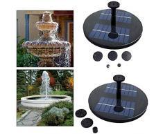 All-Purpose Solarbetriebener Brunnen, schwimmender Brunnen Solarbrunnen Gartenteich im Freien Bewässerung Solarbrunnenpumpe, ohne Batterie