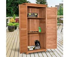 MCombo Gartenschrank Gerätehaus Geräteschuppen Garten Schuppen Schrank Holz