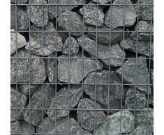 Steinkorb-Gabione eckig, Maschenweite 5 x 10 cm, Tiefe 50 cm, Spiralverschluss, galvanisch verzinkt (100 x 100 x 50 cm)