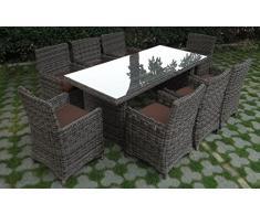 Baidani Garten Essgruppe Rundrattan, Liberty Select, braun, 298 x 188 x 93 cm, 13d00001.90006