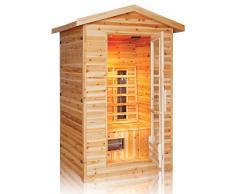 Infrarotkabine / Wärmekabine / Sauna - ECK ! 3 Personen Außenbereich Outdoor